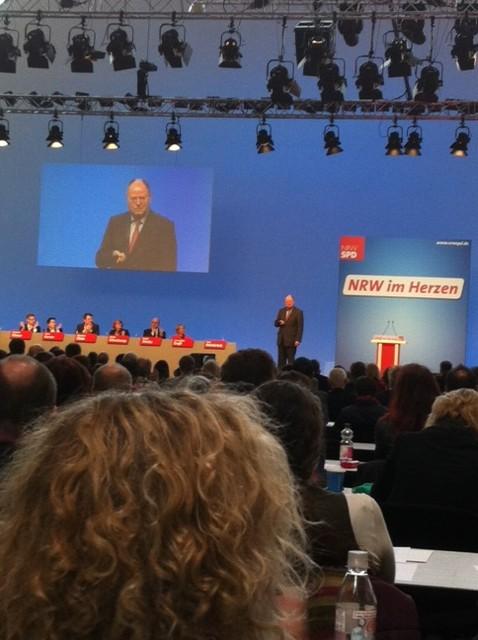 Auch der zukünftige Bundeskanzler Peer Steinbrück war da.