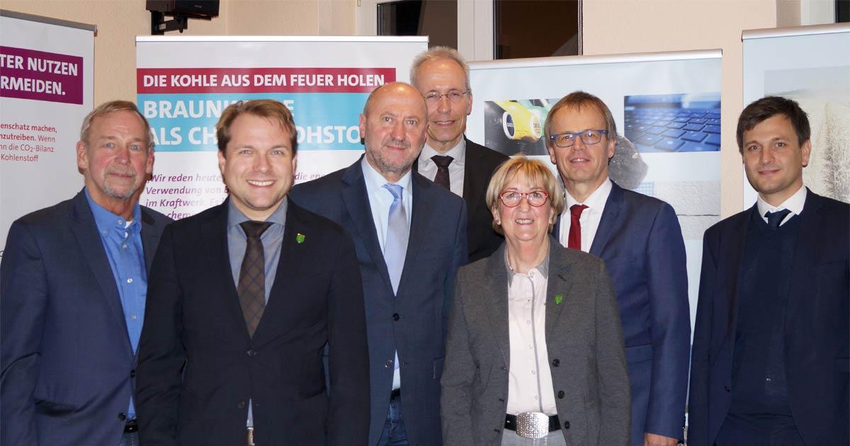 (v.l.n.r.) Manfred Holz, Dr. Martin Mertens, Rainer Thiel, Jens Bröcker, Ellen Klingbeil, Michael Eyll-Vetter und Boris Linden